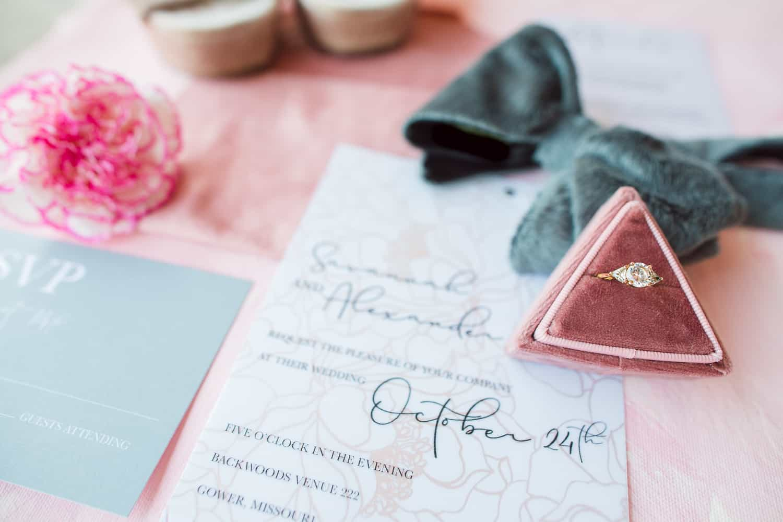 Backwoods 222 wedding invites by Hazel Designs MC inspiration invites by