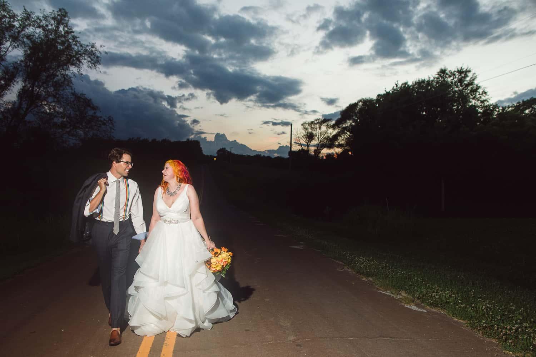 Wedding sunset at Backwoods Venue 222