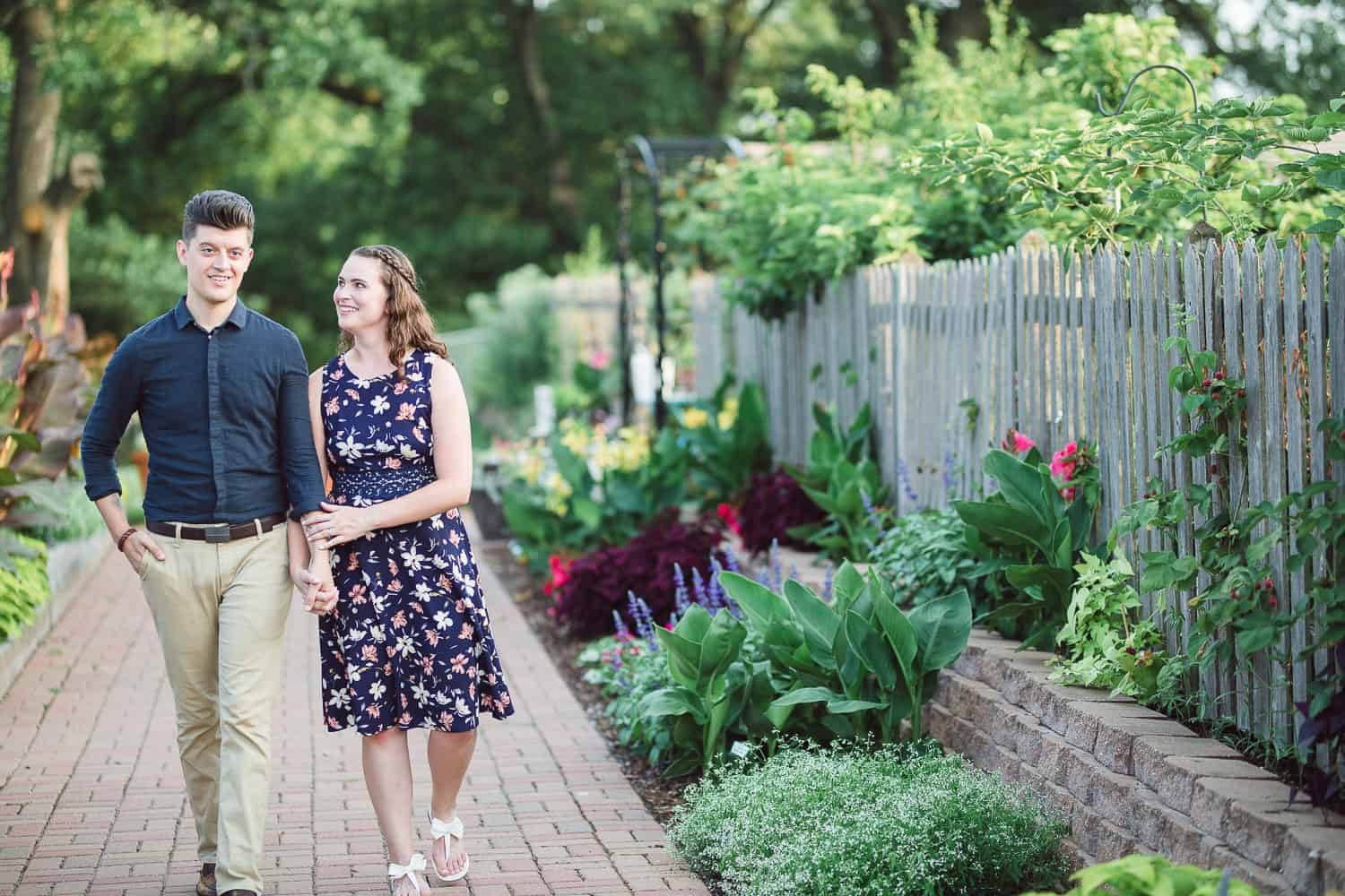 Kansas City Community Gardens engagement pictures