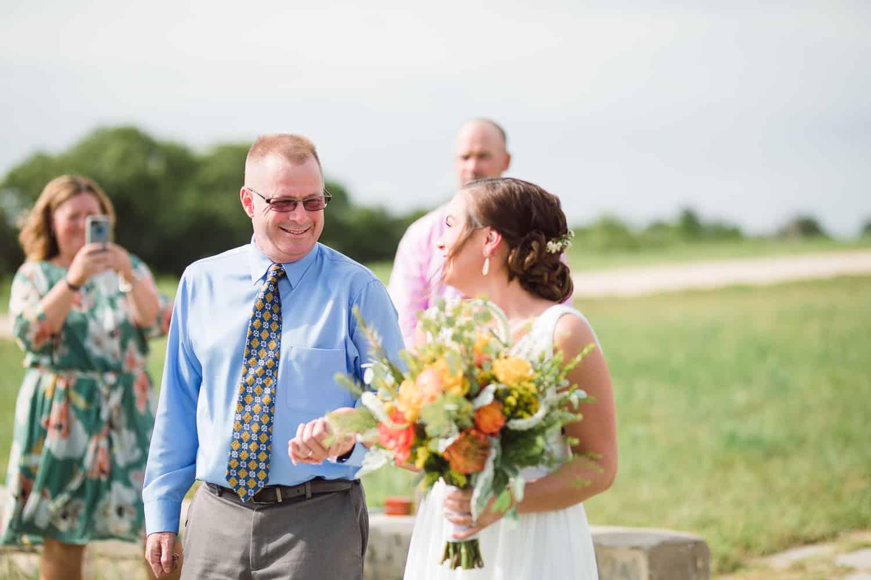 Outdoor wedding chapel elopement in Fort Riley Kansas