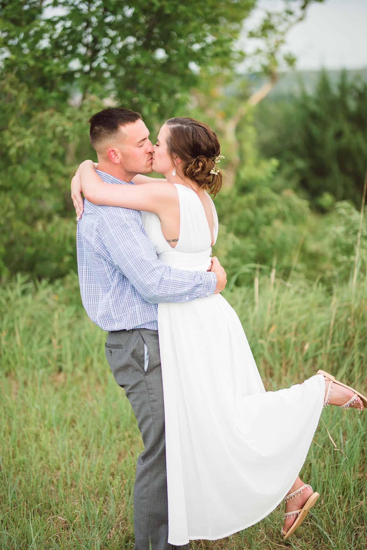Fort Riley Kansas military wedding elopement