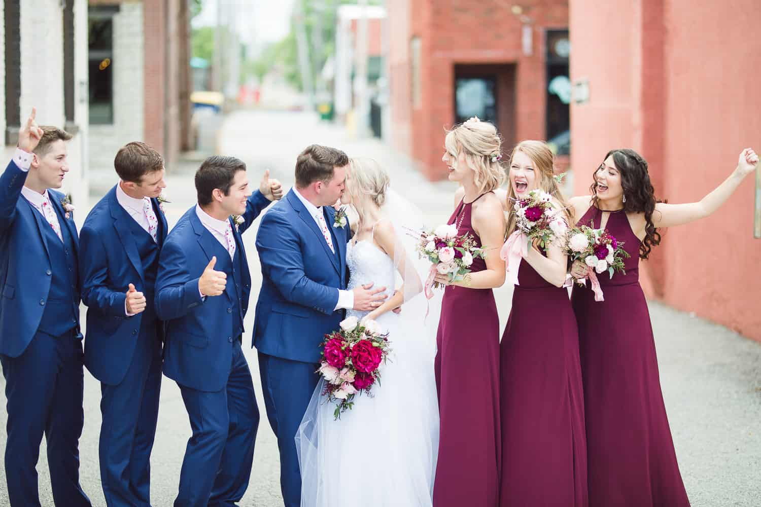 Downtown Lee's Summit wedding pictures