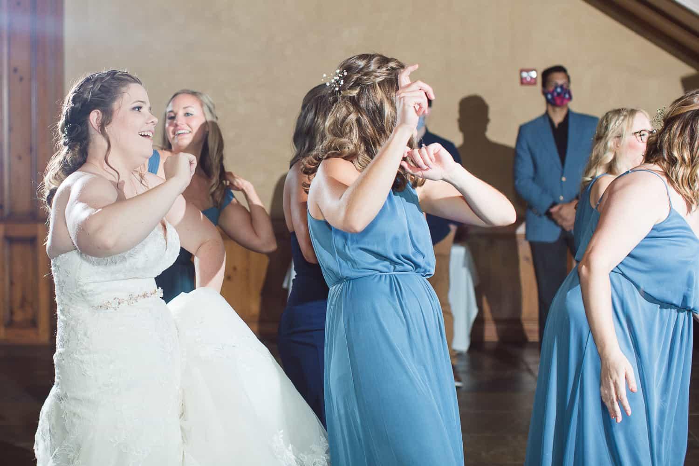 Lenexa Kansas wedding reception at real horse barn
