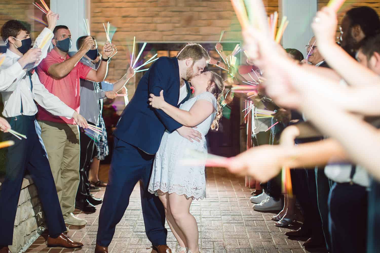 Glow Stick wedding exit in Lenexa