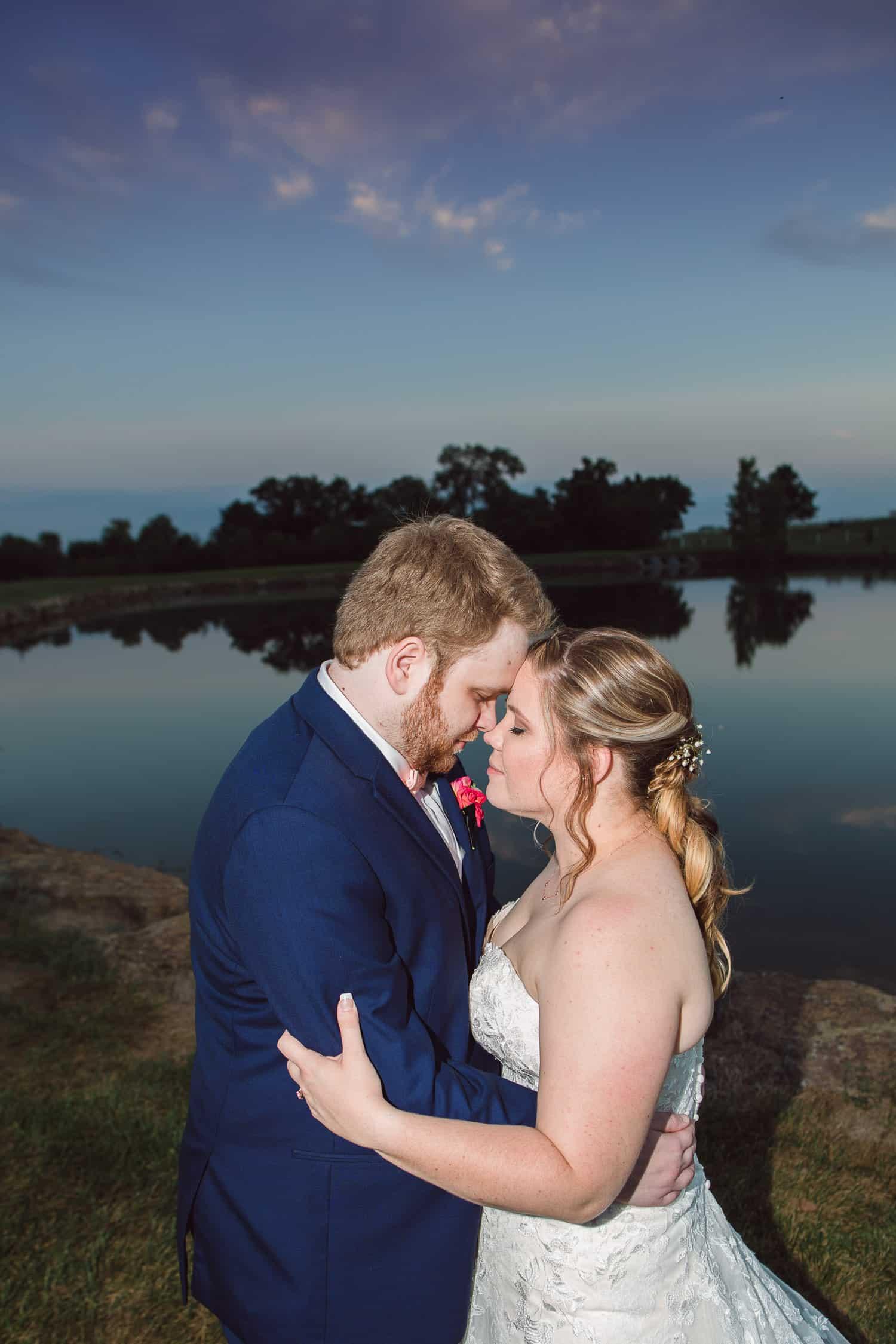 Sunset photos at the Fire Stables Lenexa wedding venue