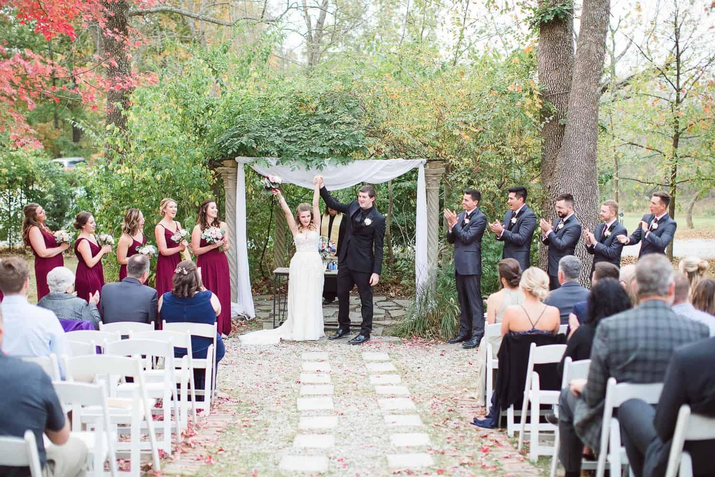 Enchanted Acres wedding ceremony in Harrisonville Missouri