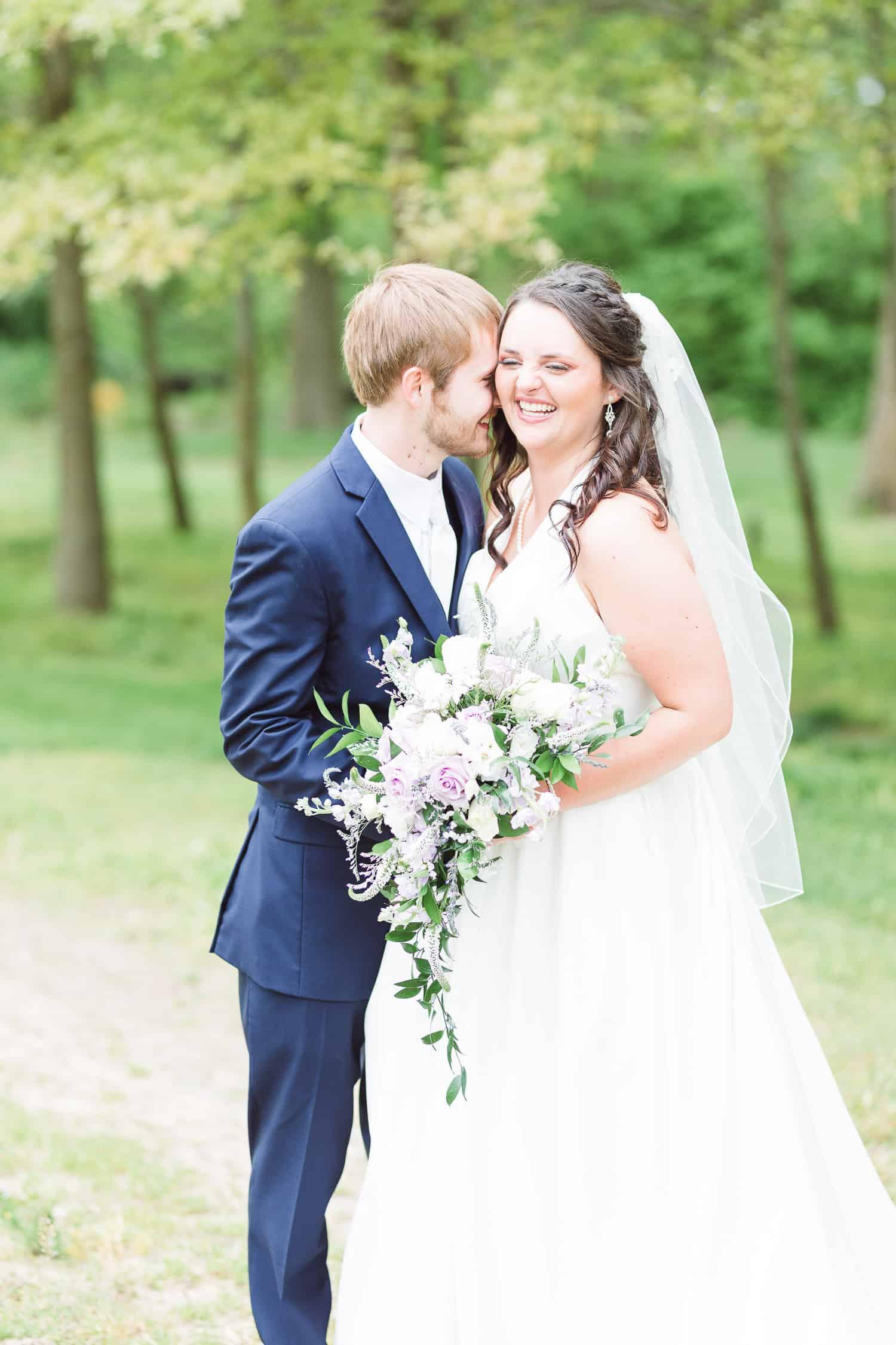 Bride and Groom portraits at St. Joe wedding