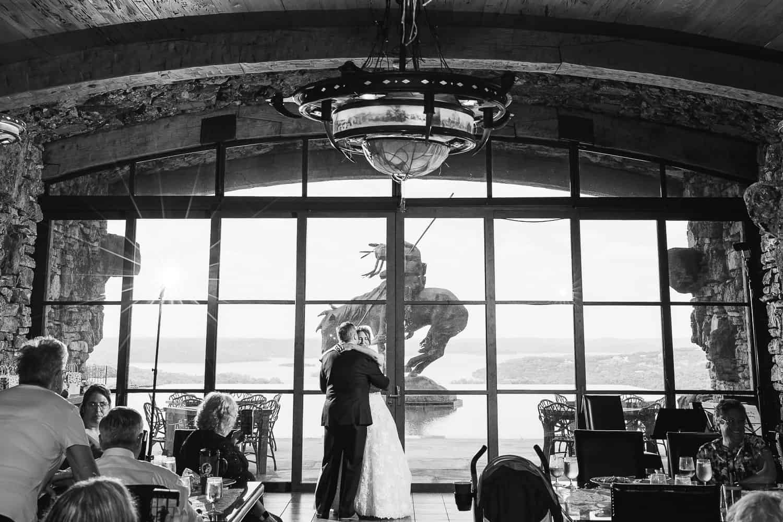 Wine Cellar wedding reception at Big Cedar Lodge