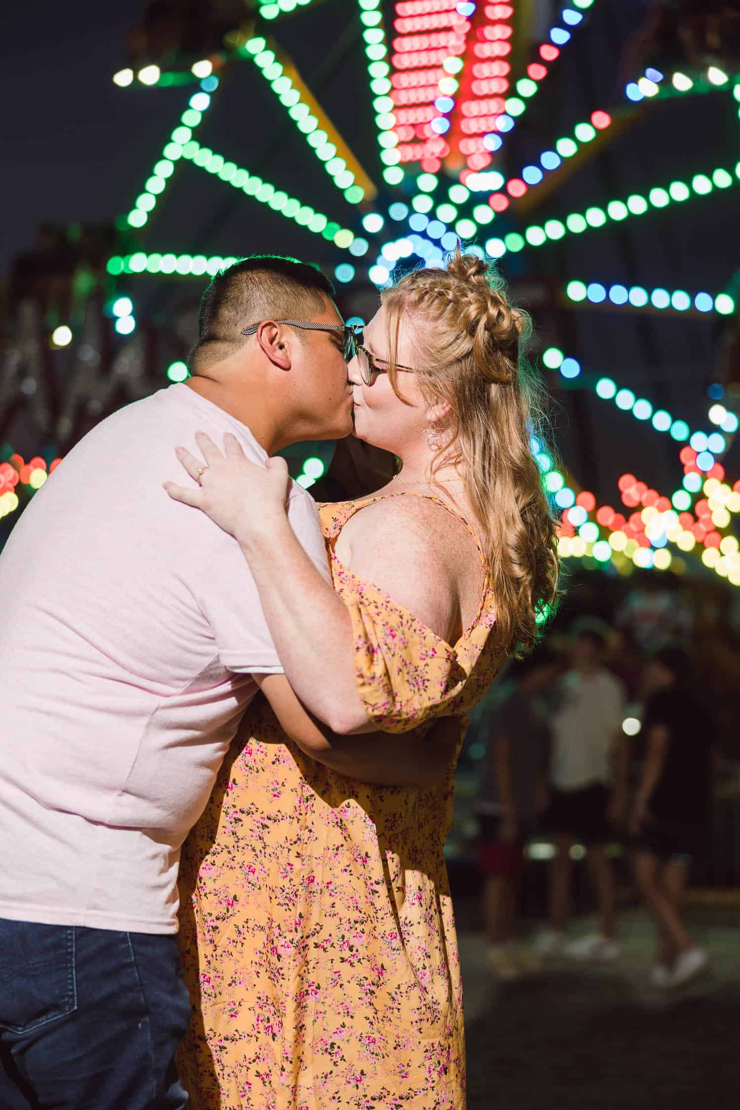 Johnson County carnival engagement session