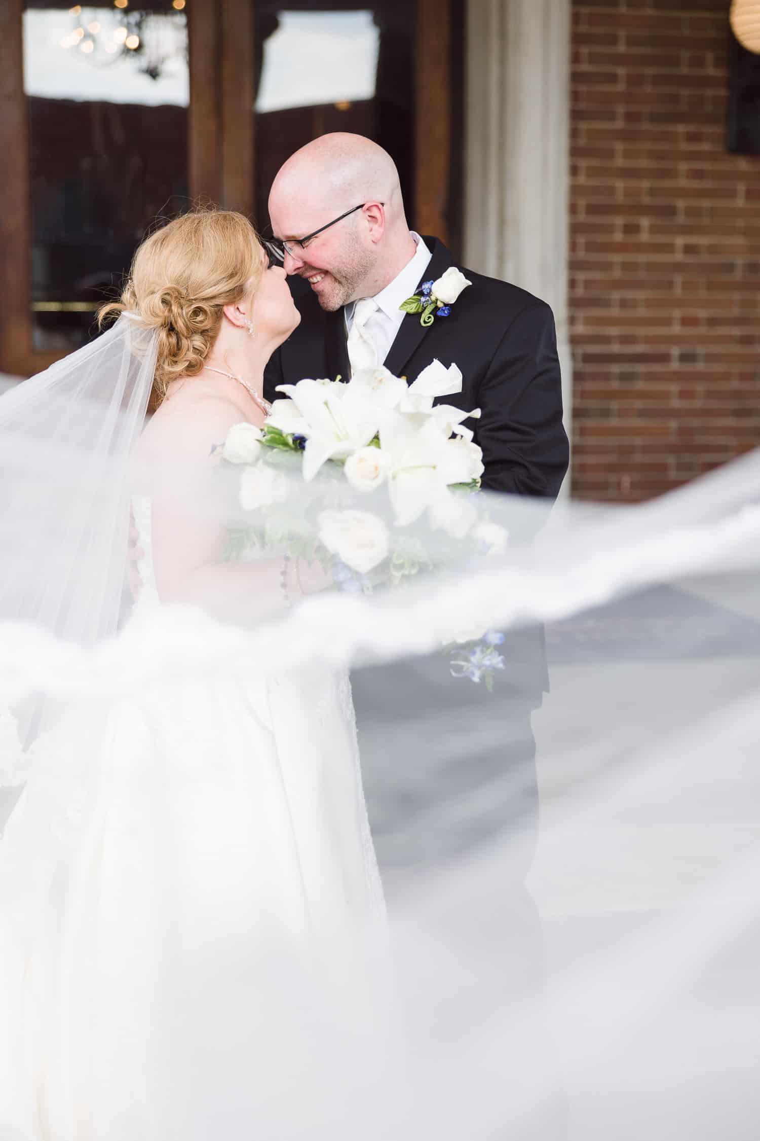 Loose Mansion wedding reception veil photo