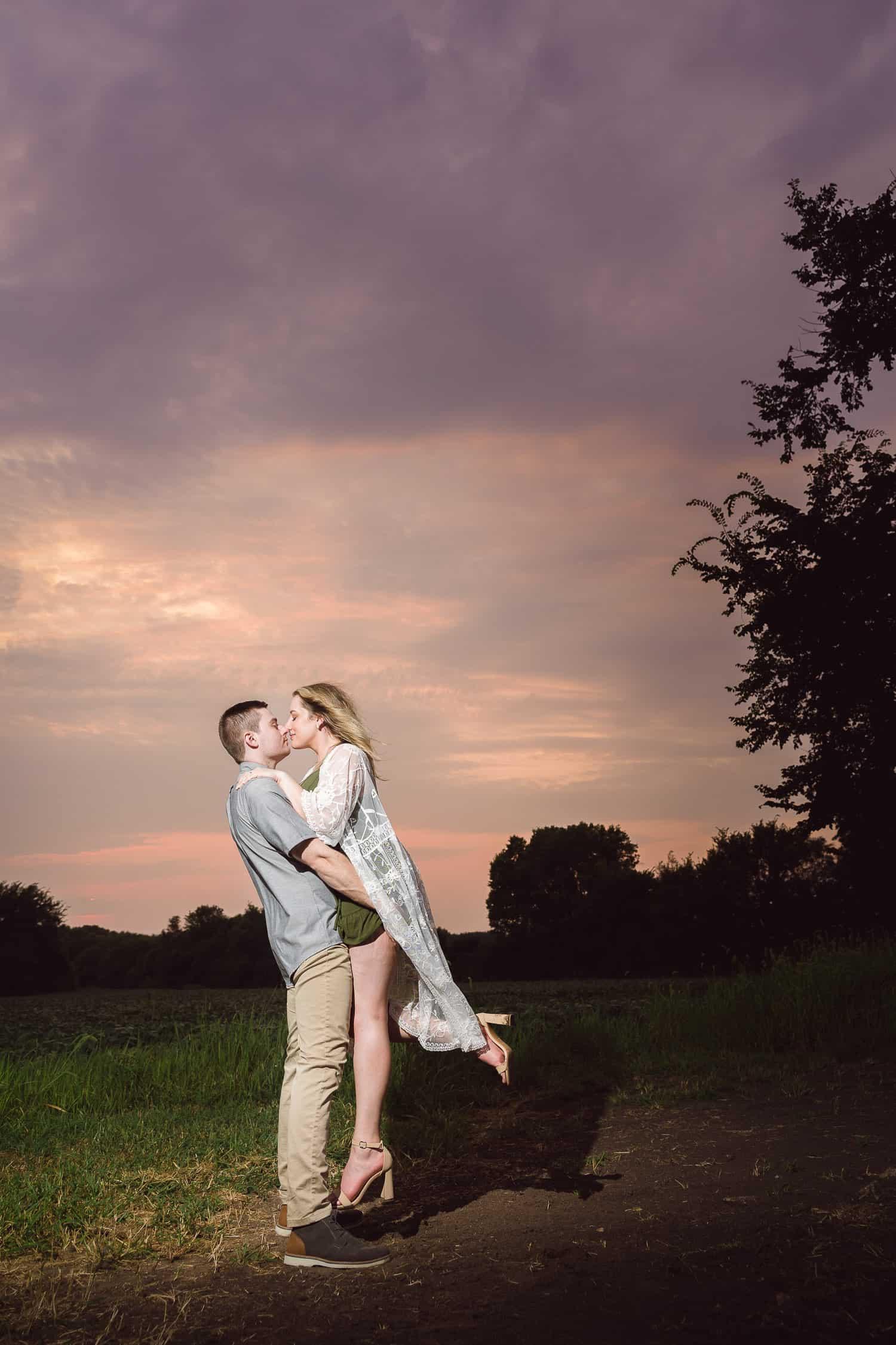 The English Barn Louisburg Kansas engagement photos