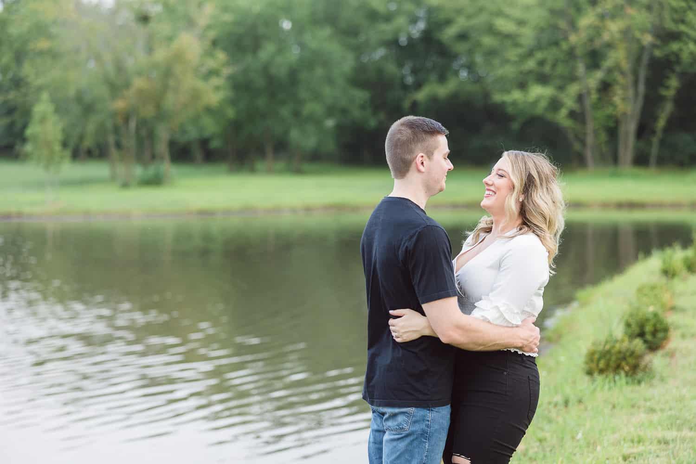 English Barn dream wedding engagement session