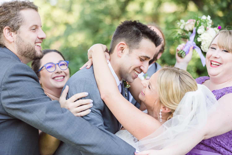 Cedar Valley Forest wedding portraits