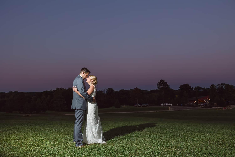 Cedar Valley Forest wedding sunset photos