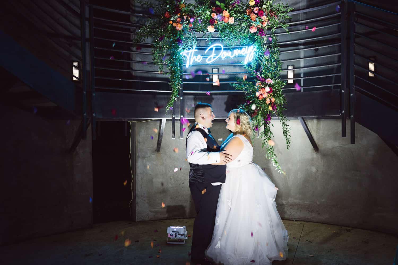Custom neon sign at wedding