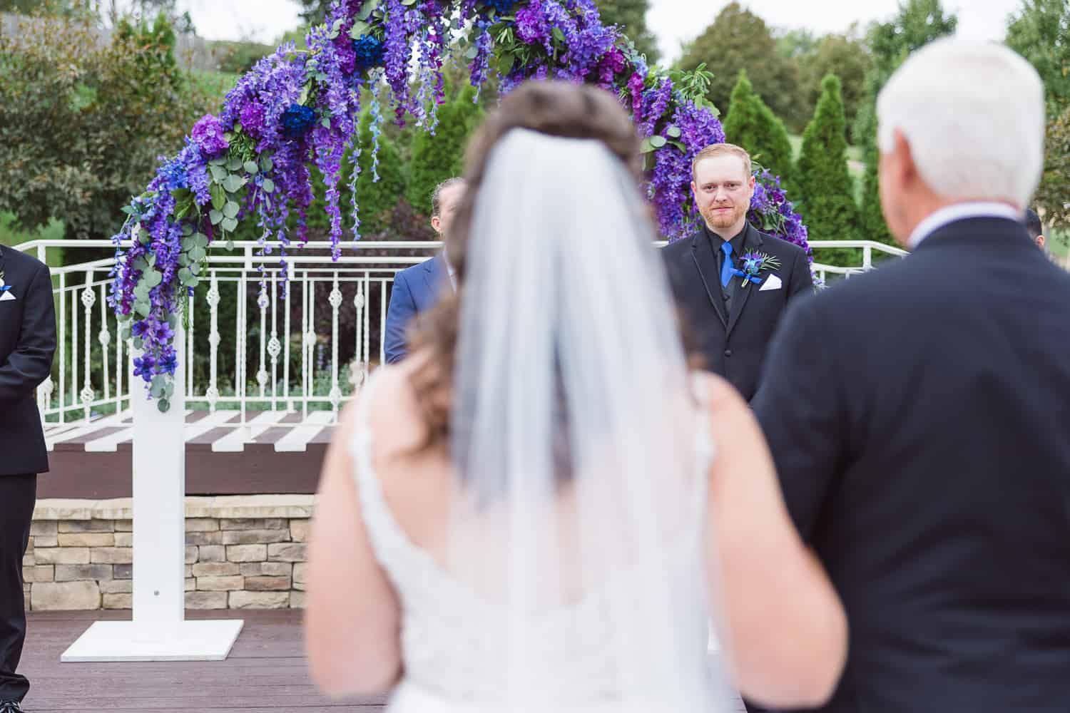 Pavilion Event Space wedding ceremony in the outdoor chapel