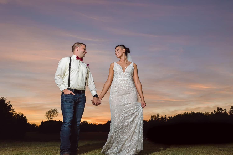 Sunset wedding photos in Joplin Missouri