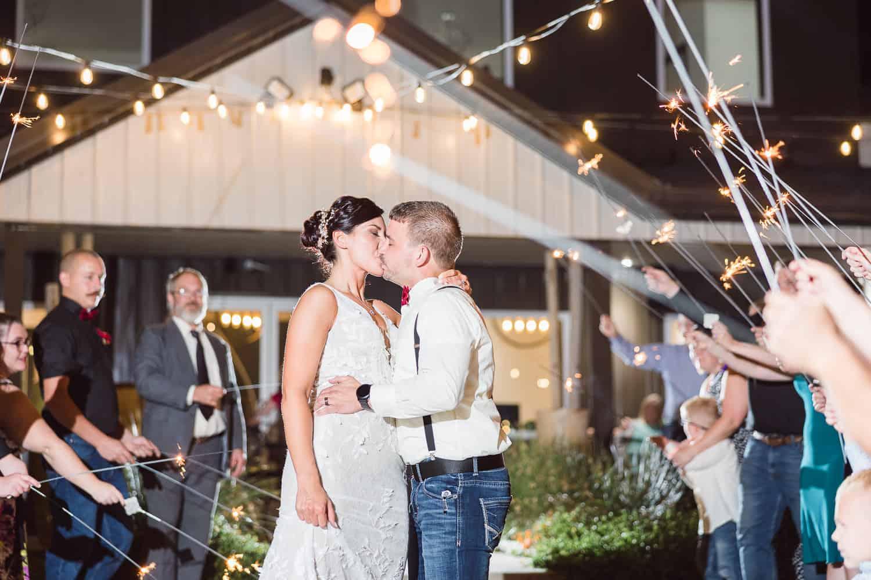 Night wedding photos in Joplin